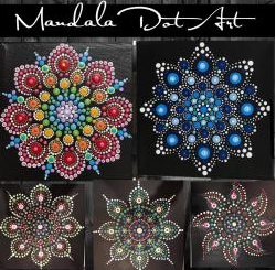 Mandala Dot Art IN STUDIO Paint and Sip Class with ZOOM option