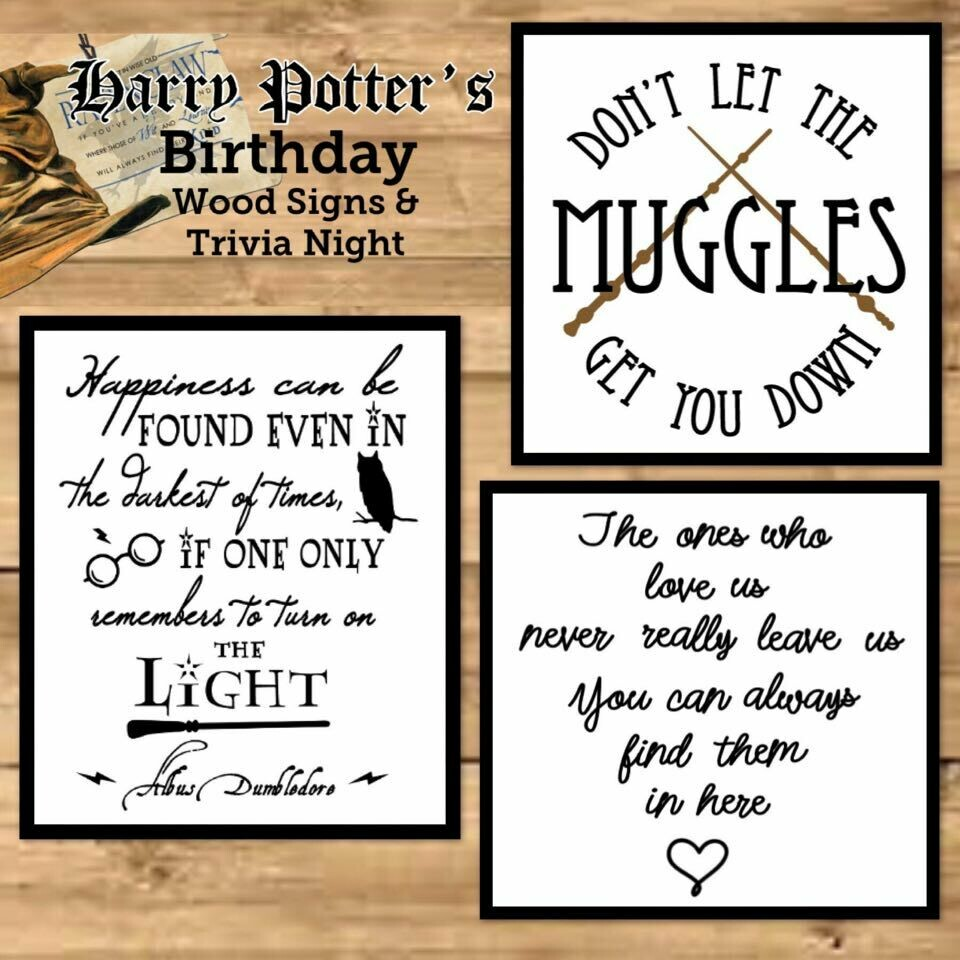 Harry Potter's Birthday Wood Sings and Trivia Night In Studio or Zoom Option