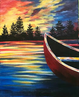 Canoe IN STUDIO Paint and Sip Class with ZOOM option