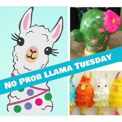 KIDS CAMP No Prob Llama Tuesday IN STUDIO Art Camp with ZOOM option