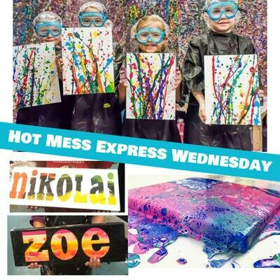 KIDS CAMP Hot Mess Wednesday IN STUDIO Art Camp with ZOOM option