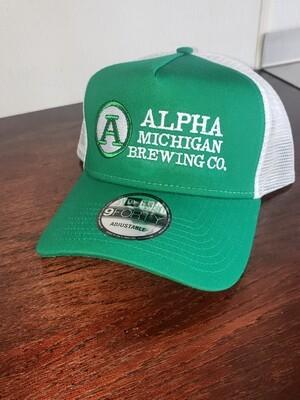 Ball Cap:Green & White Trucker