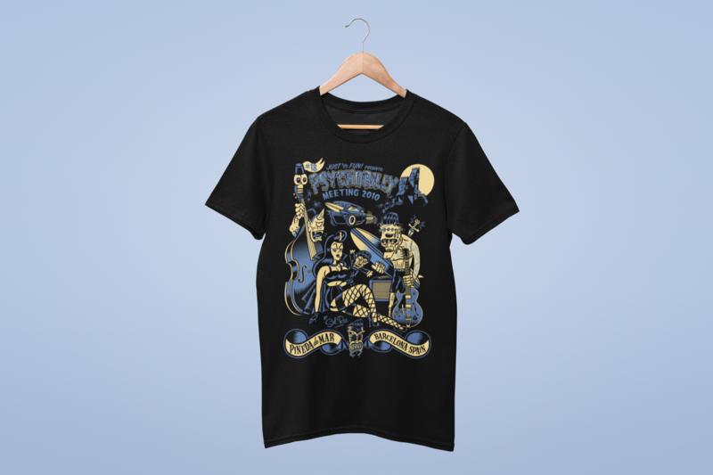 PSYCHOBILLY MEETING 2010 T-SHIRT MEN by SOLRAC