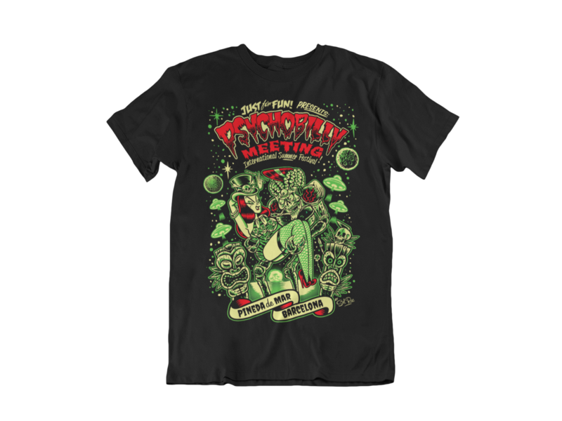 PSYCHOBILLY MEETING 2019 T-SHIRT MAN BY SOLRAC