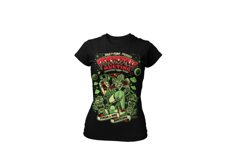 PSYCHOBILLY MEETING 2019 T-SHIRT WOMAN BY SOLRAC