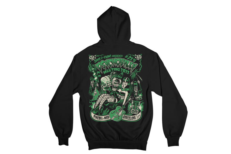PSYCHOBILLY MEETING 2013 Hoodie ZIP by SOLRAC MEN