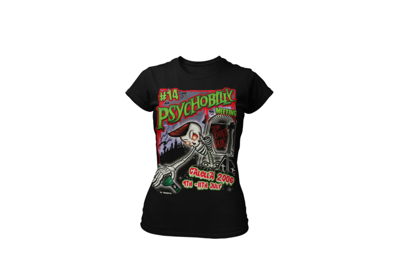 PSYCHOBILLY MEETING 2006 T-SHIRT WOMEN by THEO TERROR