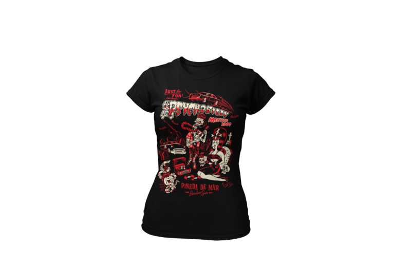 PSYCHOBILLY MEETING 2010 T-SHIRT WOMEN by SOLRAC