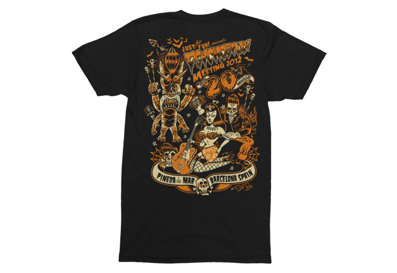 PSYCHOBILLY MEETING 2012 T-SHIRT MEN by SOLRAC