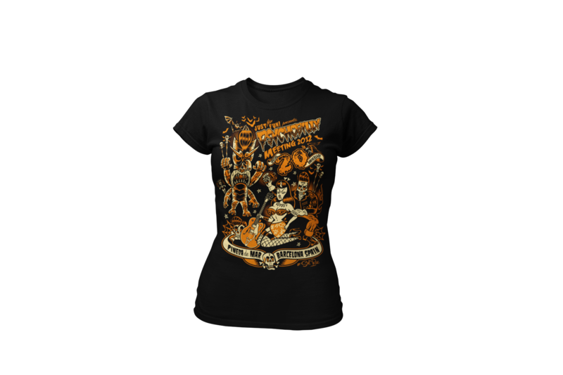 PSYCHOBILLY MEETING 2012 T-SHIRT WOMEN by SOLRAC