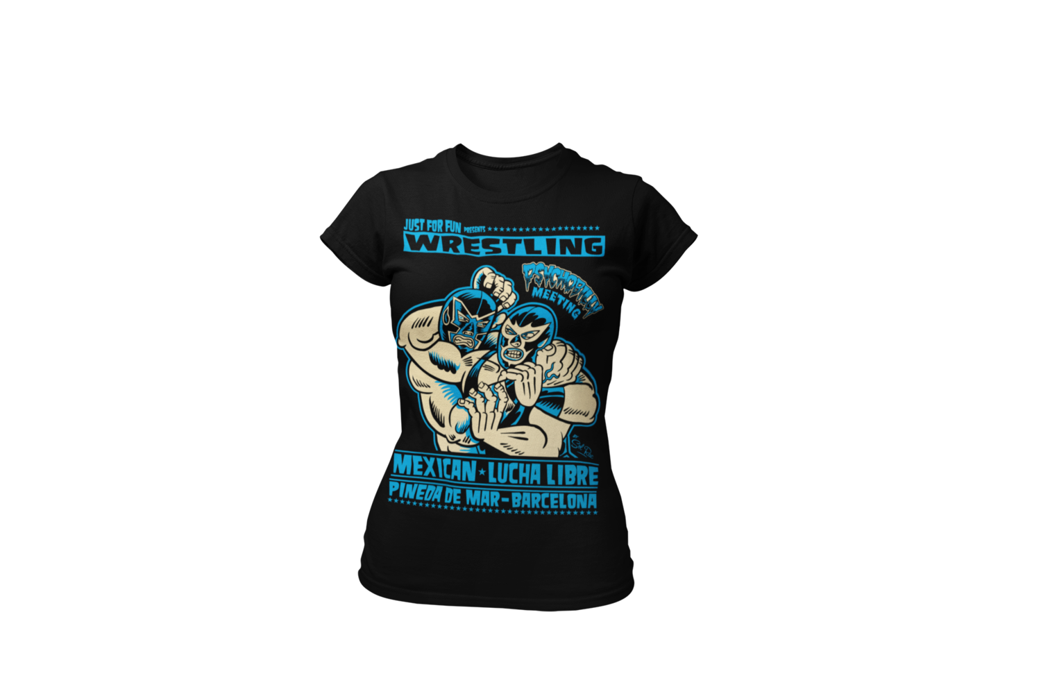 WRESTLING PSYCHOBILLY MEETING RIOT T-SHIRT WOMEN by SOLRAC
