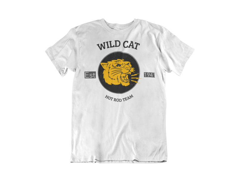 WILDCAT HOT ROD TEAM T-SHIRT FOR MEN