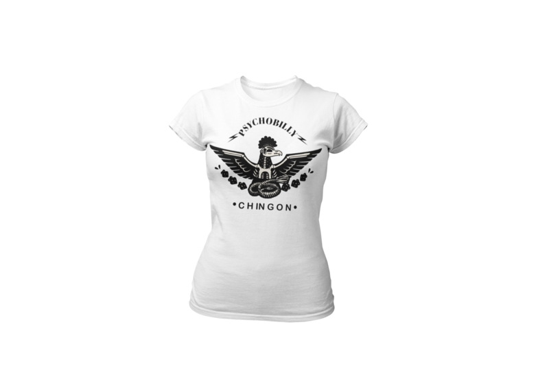 PSYCHOBILLY CHINGON WHITE T-SHIRT FOR WOMEN