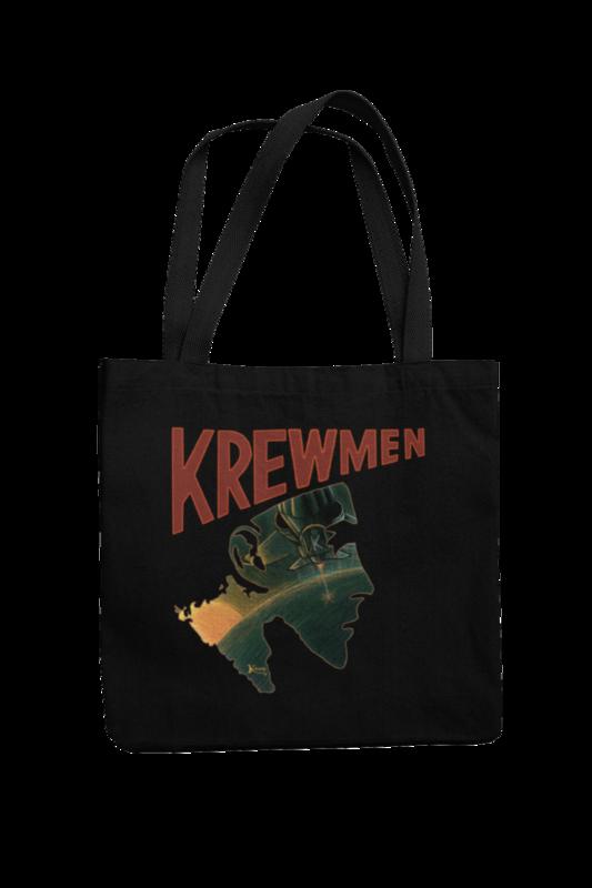 KREWMEN LOGO Cotton Bag  logo design KING RAT DESIGN