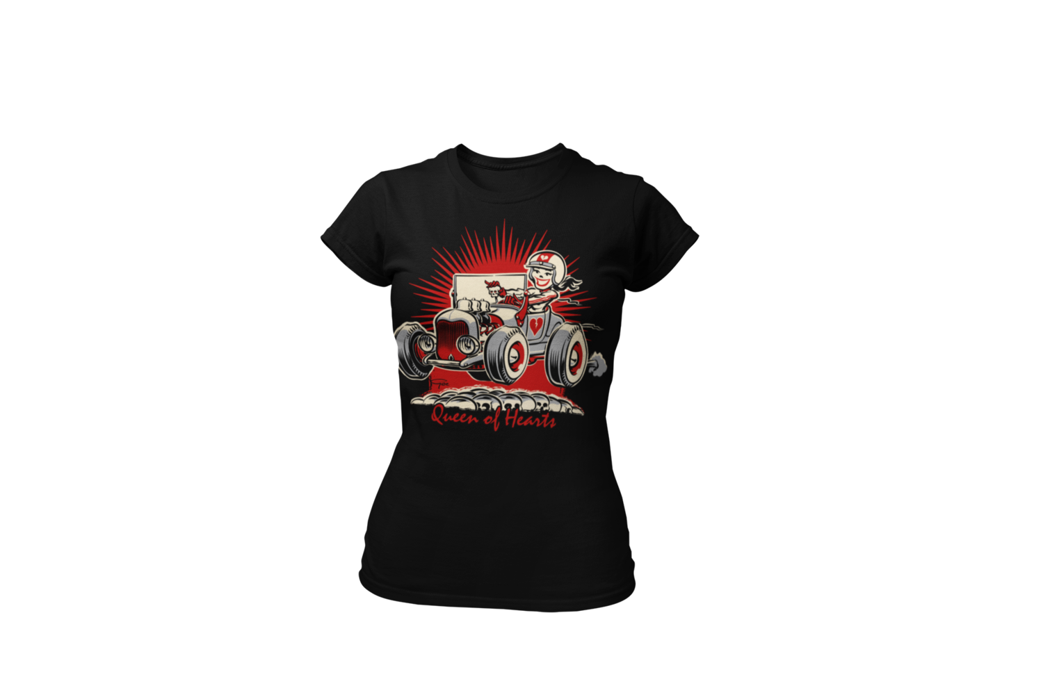 """QUEEN OF HEARTS T-SHIRT WOMAN by Ger """"Dutch Courage"""" Peters artwork"""