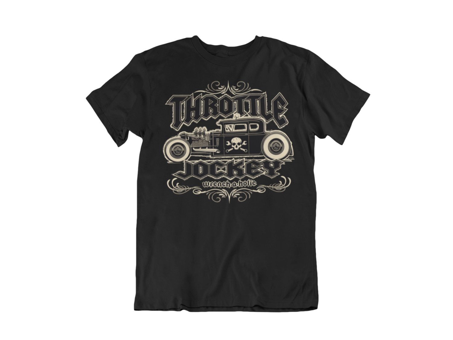 """THROTTLE JOCKEY """"Wrench a Holic"""" T-SHIRT MAN BY Ger """"Dutch Courage"""" Peters artwork"""