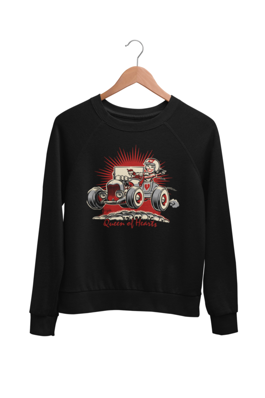 QUEEN OF HEARTS SWEATSHIRT UNISEX by BY Ger