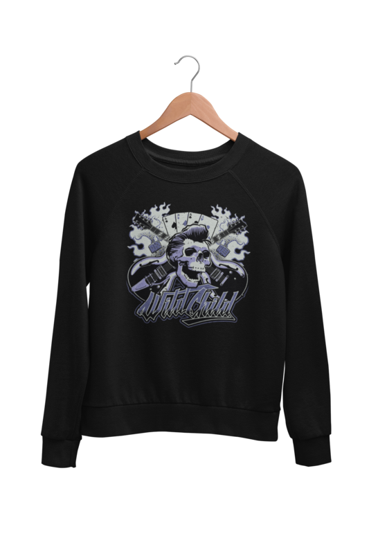 WILD CHILD ROCKABILLY  SWEATSHIRT UNISEX by BY Ger