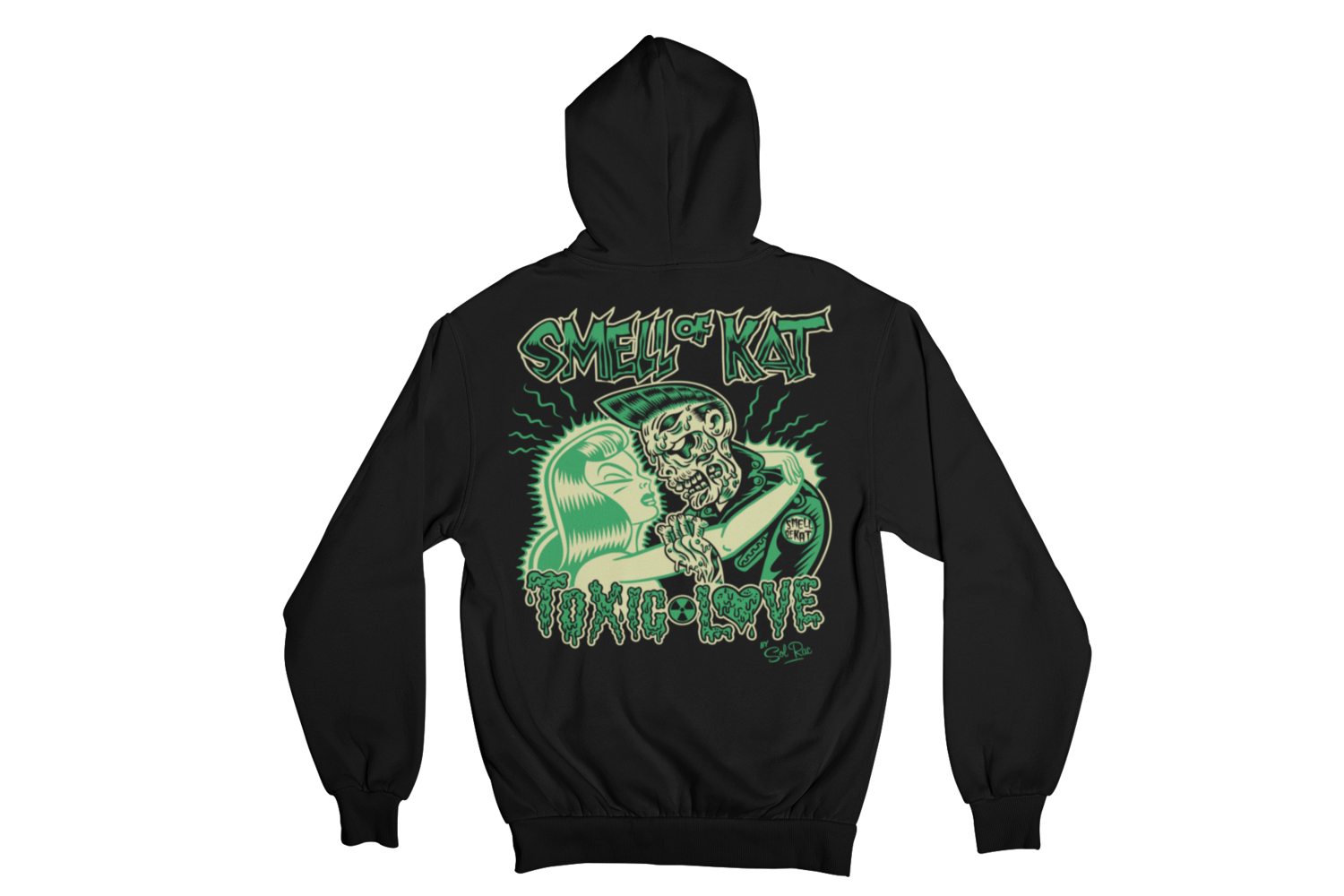 """SMELL OF KAT """"TOXIC LOVE""""  HOODIE ZIP for MEN by SOLRAC"""