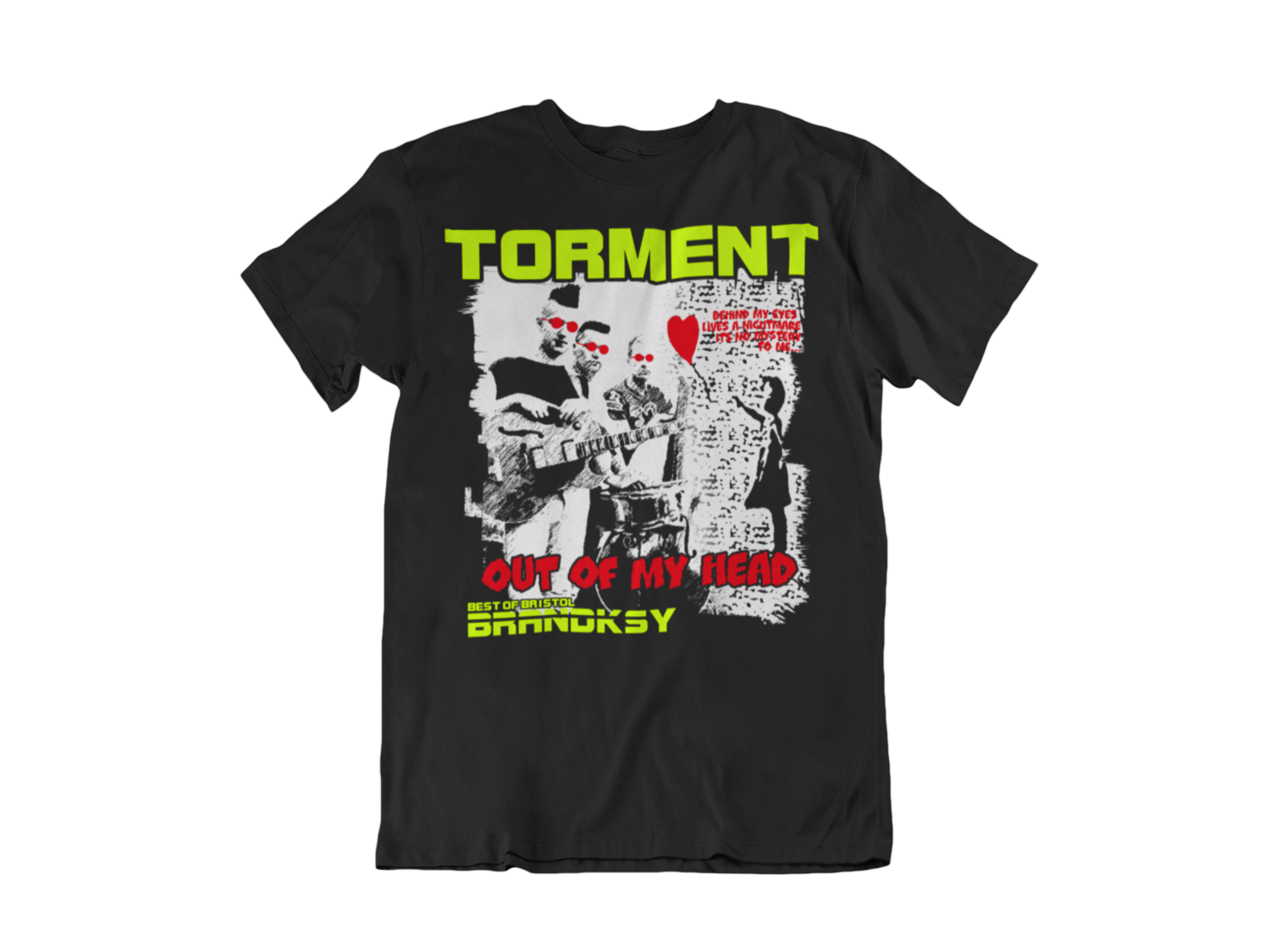"""TORMENT """"Out of my head"""" tshirt for MEN"""