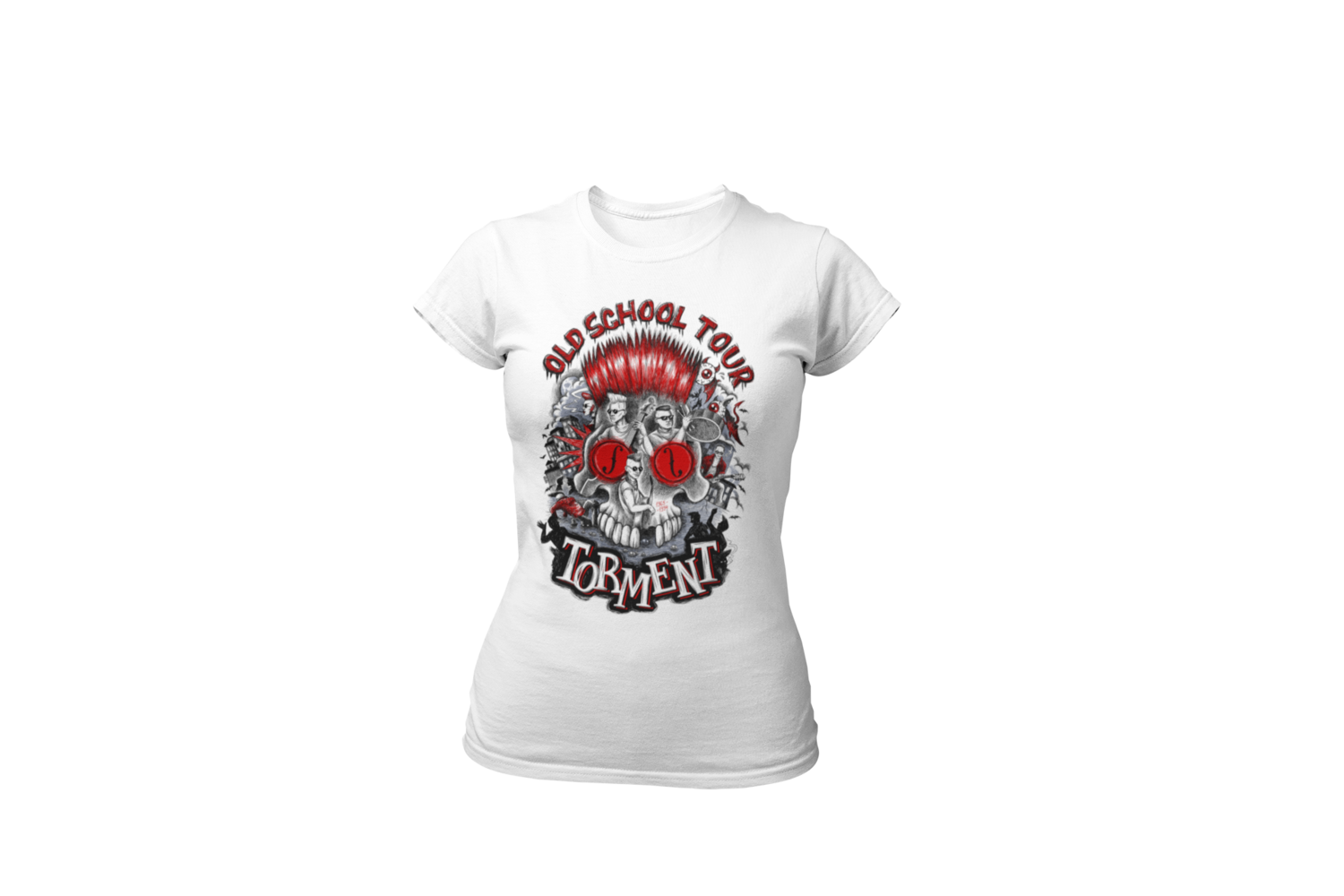 "TORMENT ""Old school tour"" tshirt for WOMEN"