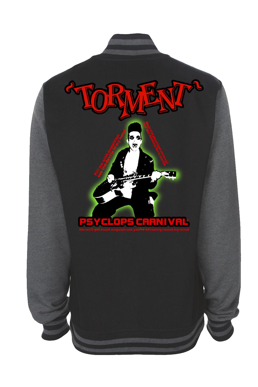 """TORMENT """"Psyclops Carnival"""" VARSITY JACKET UNISEX"""