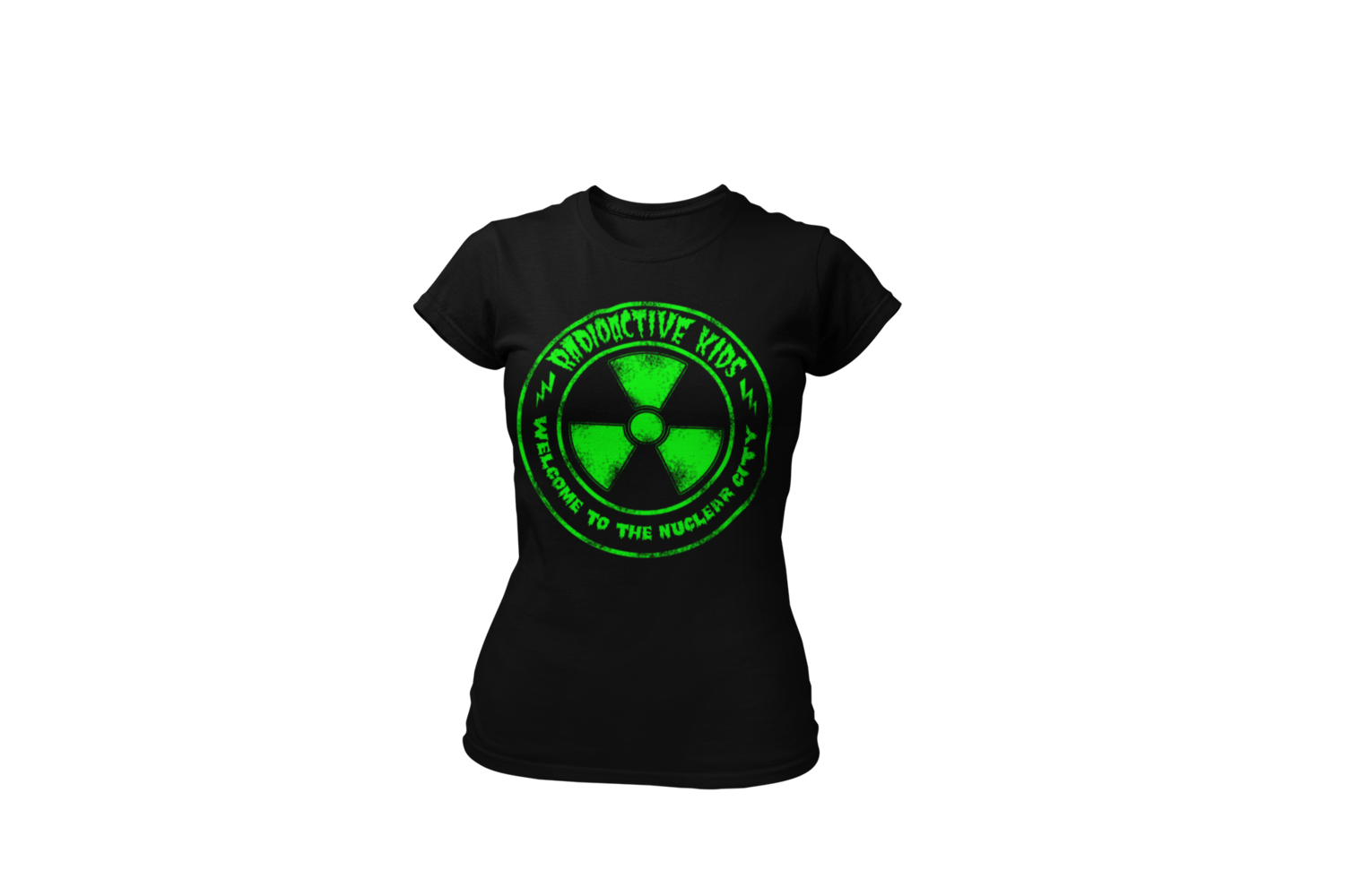 """RADIOACTIVE KIDS """"Nuclear City""""  tshirt for WOMAN"""