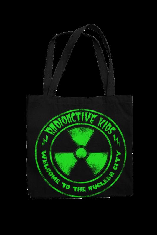 RADIOACTIVE KIDS Cotton Bag  NUCLEAR CITY