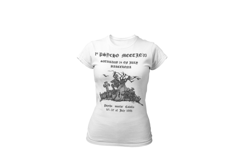 PSYCHOBILLY MEETING 1993 T-SHIRT WOMAN