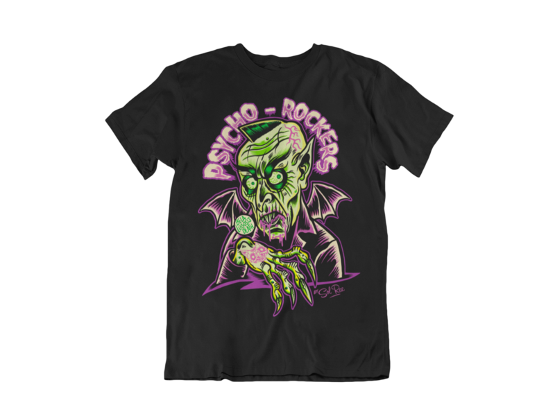 PSYCHO - ROCKERS T-SHIRT MAN BY SOL RAC