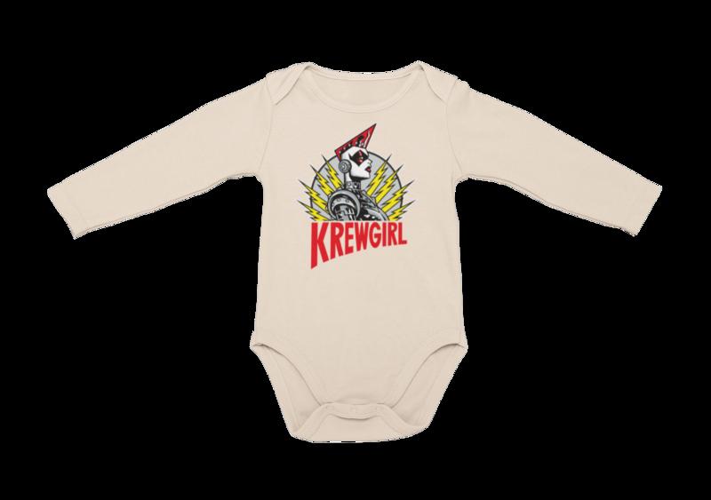 KREWGIRL LOGO BABY ONIESE
