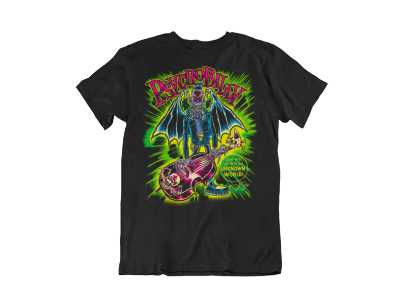 PSYCHOBILLY UNKNOWN WORLD T-SHIRT MAN BY SOL RAC