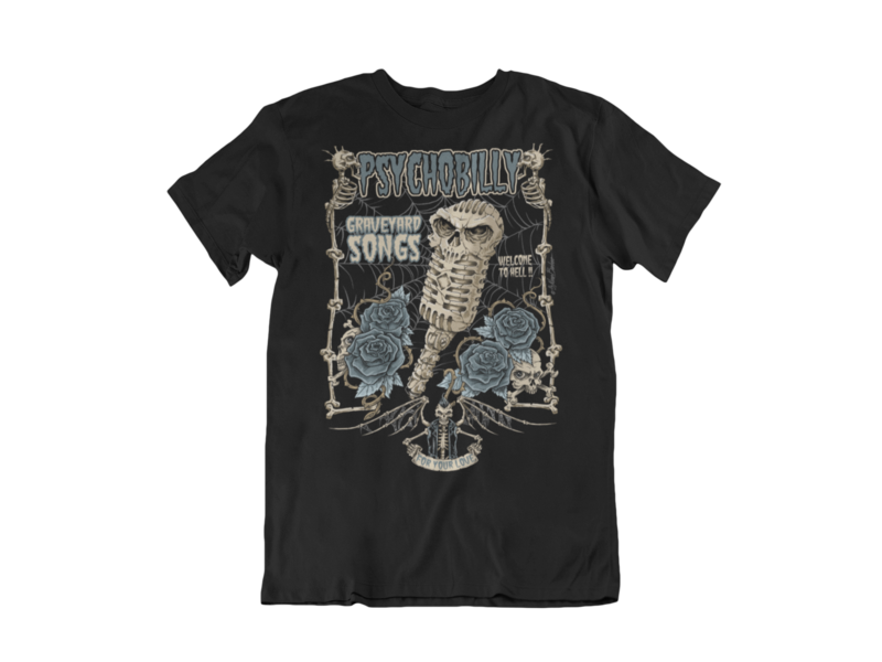 GRAVEYARD SONGS T-SHIRT MAN BY NANO BARBERO