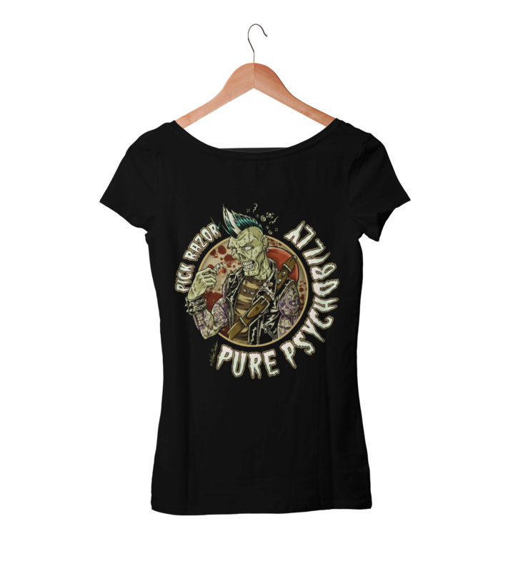 PICK RAZOR T-SHIRT WOMAN by NANO BARBERO
