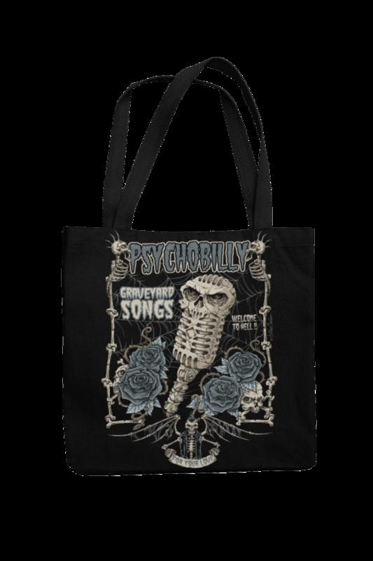 Cotton Bag Graveyard Songs design by NANO BARBERO