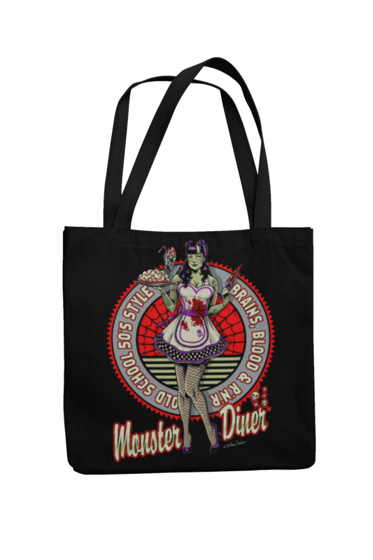 Cotton Bag Monster Diner design by NANO BARBERO