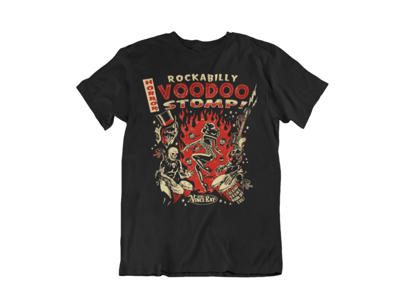 ROCKABILLY VOODOO STOMP T-SHIRT MAN BY VINCE RAY