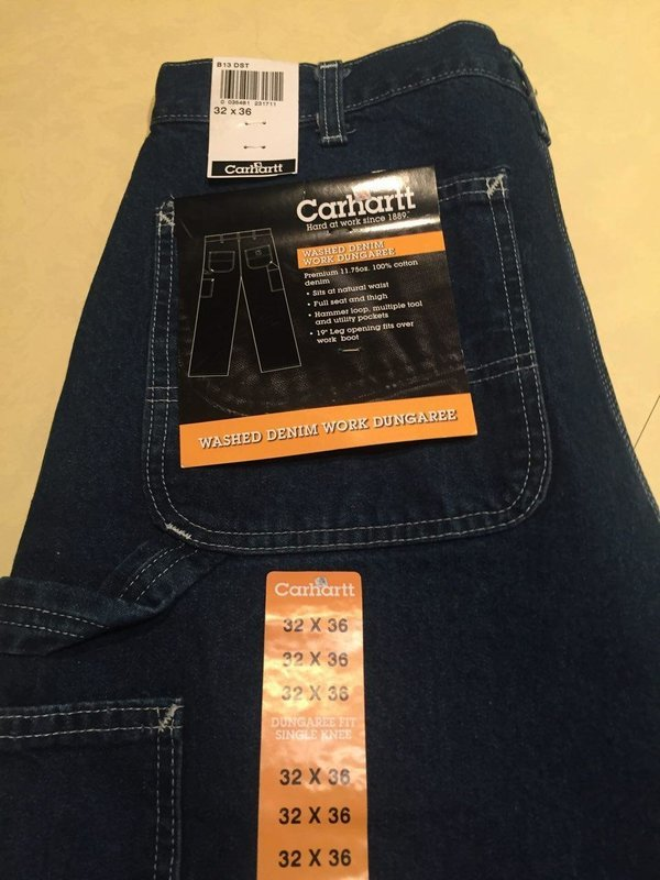 Carhartt Carpenter Jeans mod B13 dark denim