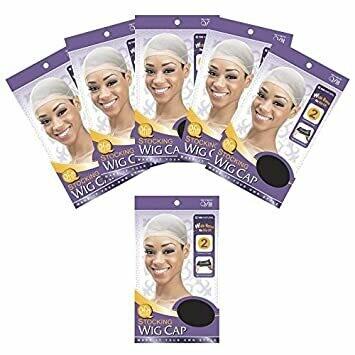 (6 PACK) QFITT STOCKING WIG CAP BLACK #100