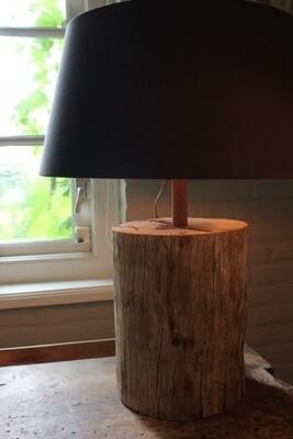 Tafellamp / Schemerlamp van boomstam