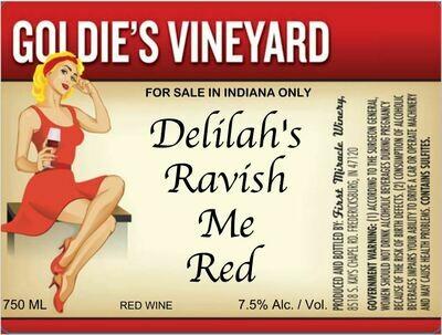 DELILAH'S RAVISH ME RED