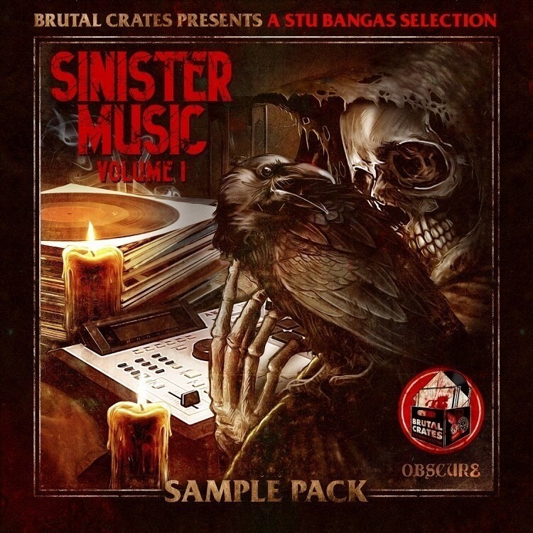 """BRUTAL CRATES """"SINISTER MUSIC"""" SAMPLE PACK (WITH STEMS)"""