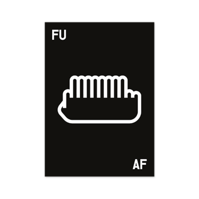 poster fuaf - white 12 on black