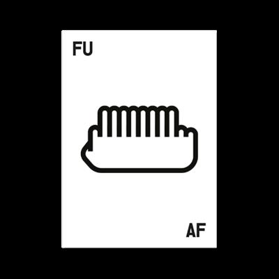 poster fuaf - black 12 on white