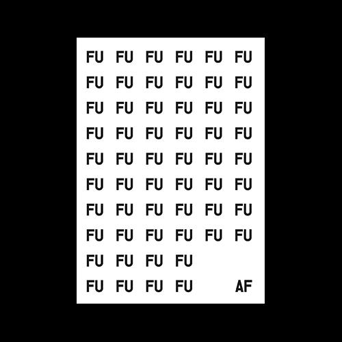 poster fuaf - black fu on white