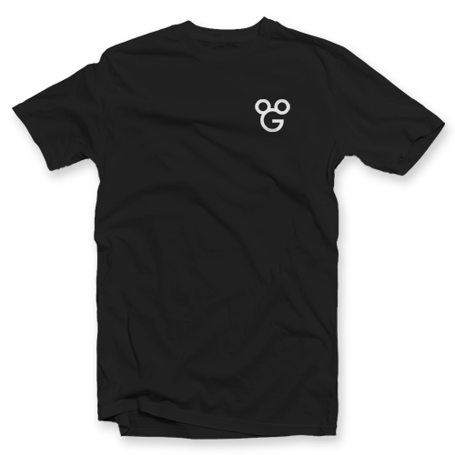 shirt gmouse - white gmouse on black