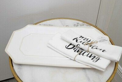 Beatriz Ball Rect.White Platter-Long