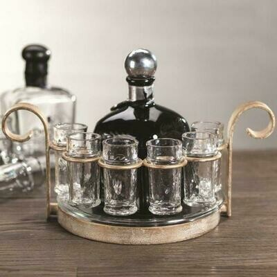 Fiesta Six Shot Tequila Set- Gold