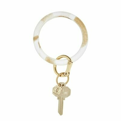 Gold Rush Marble Silicone Big O Key Ring