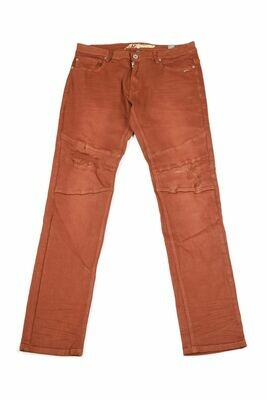 A. Tiziano  Marcus | Men's Solid Twill Stonewashed Jean